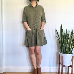 Zara Dropwaist Shirt Dress